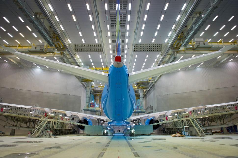 970 A350-900 MSN082 Air Caraibes rolls out paintha