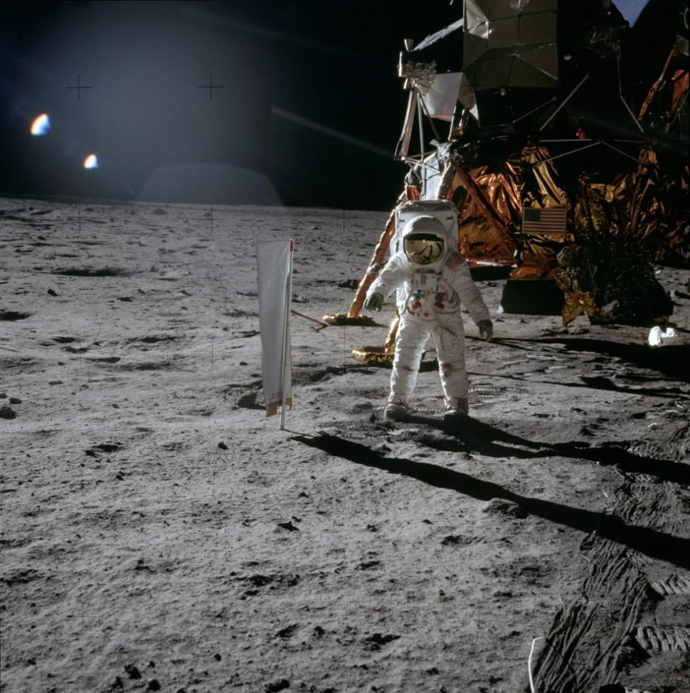 Aldrin near LM c NASA