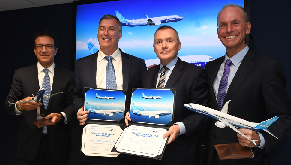 Boeing IAG paris deal