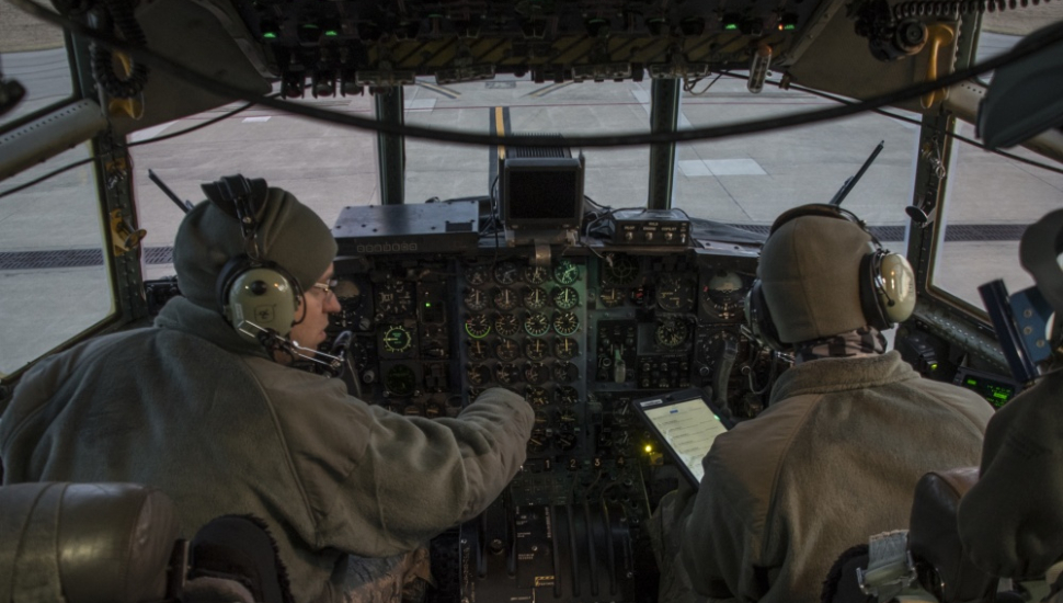 C-130H cockpit Ohio National Guard