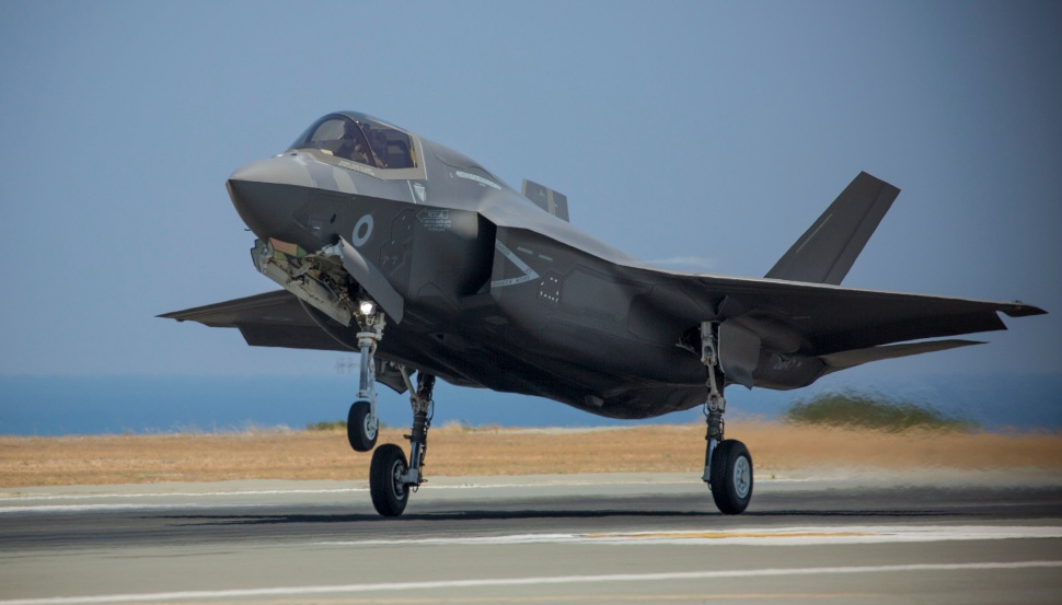 F-35B lands - Crown Copyright