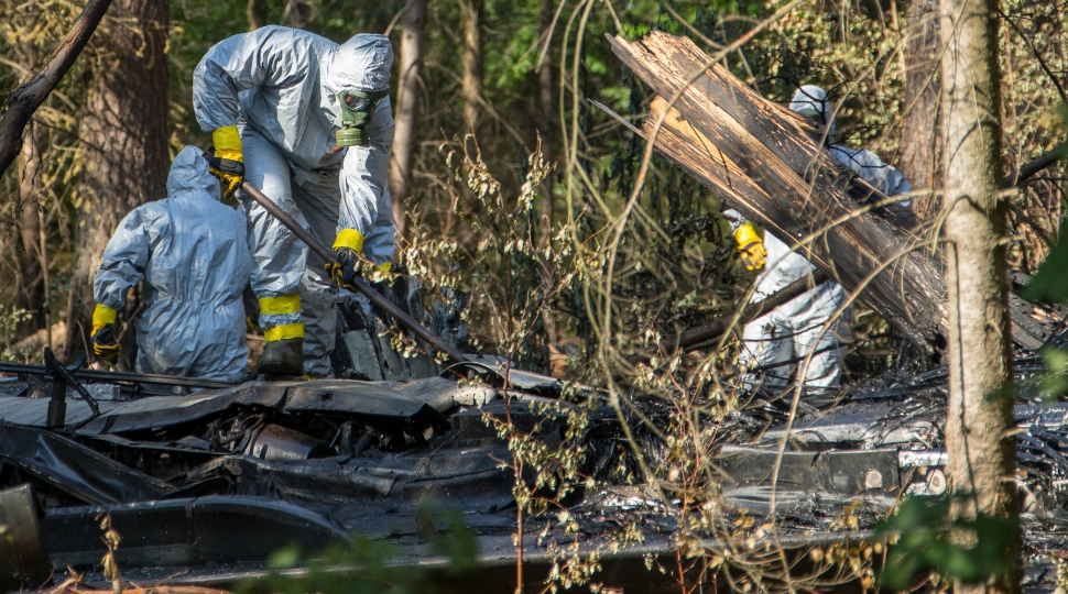 German air force Luftwaffe Eurofighter crash