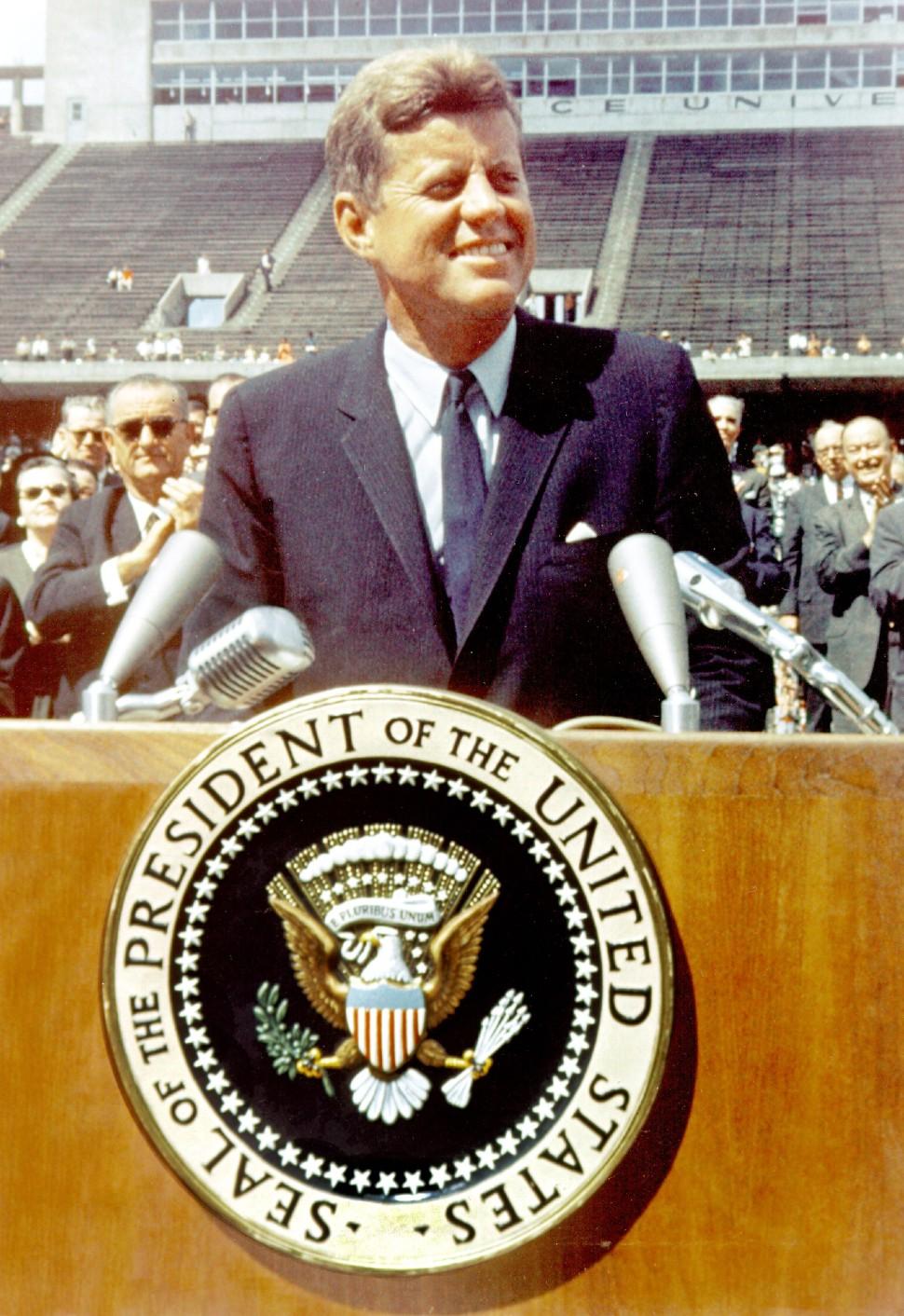 Kennedy Rice speech feb 64 c Mediapunch Shuttersto