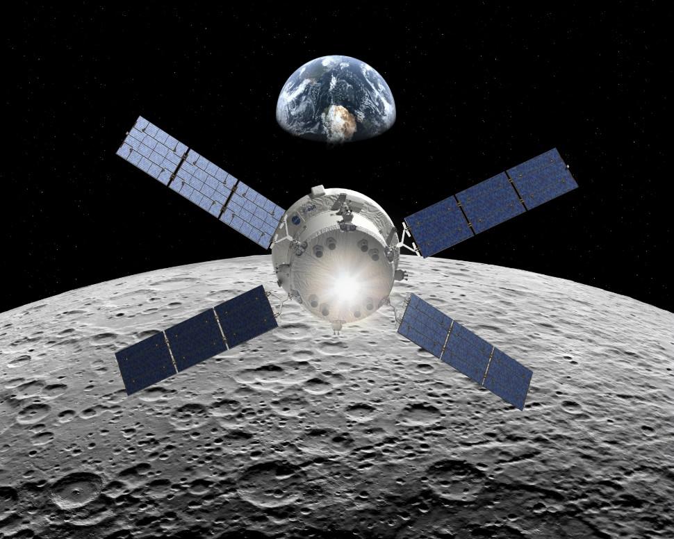 Orion with Service Module c ESA D Ducros