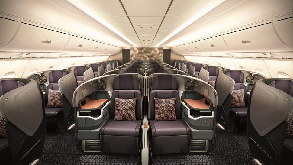 SIA A380 business class