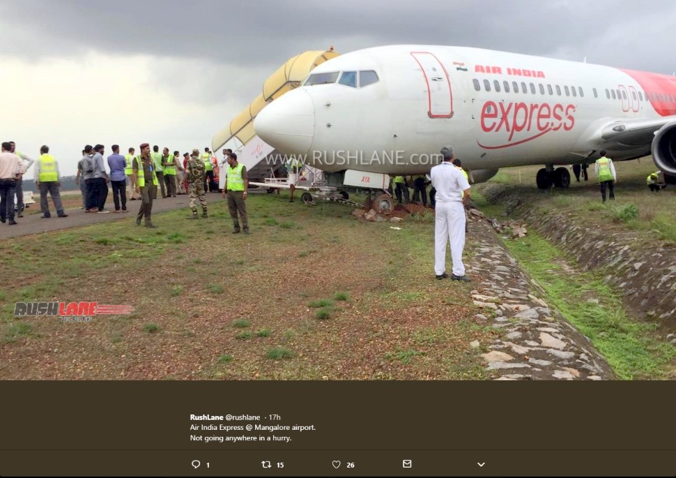 Air India Express Mangalore taxiway incident