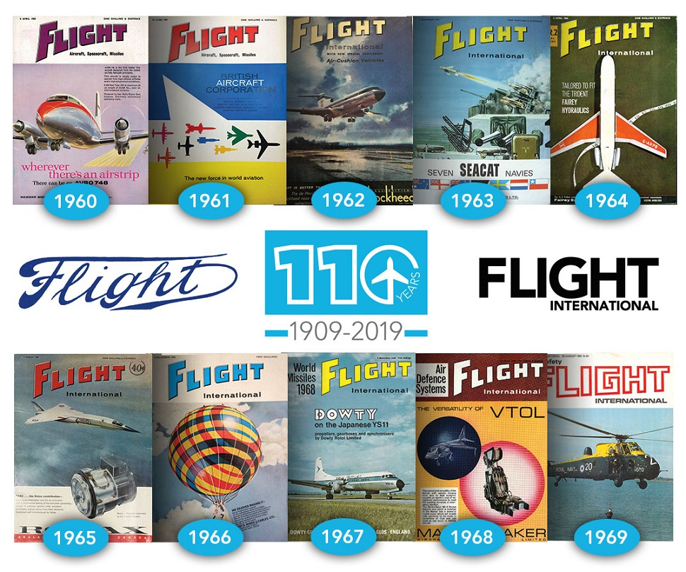 flight 1960s cover collage