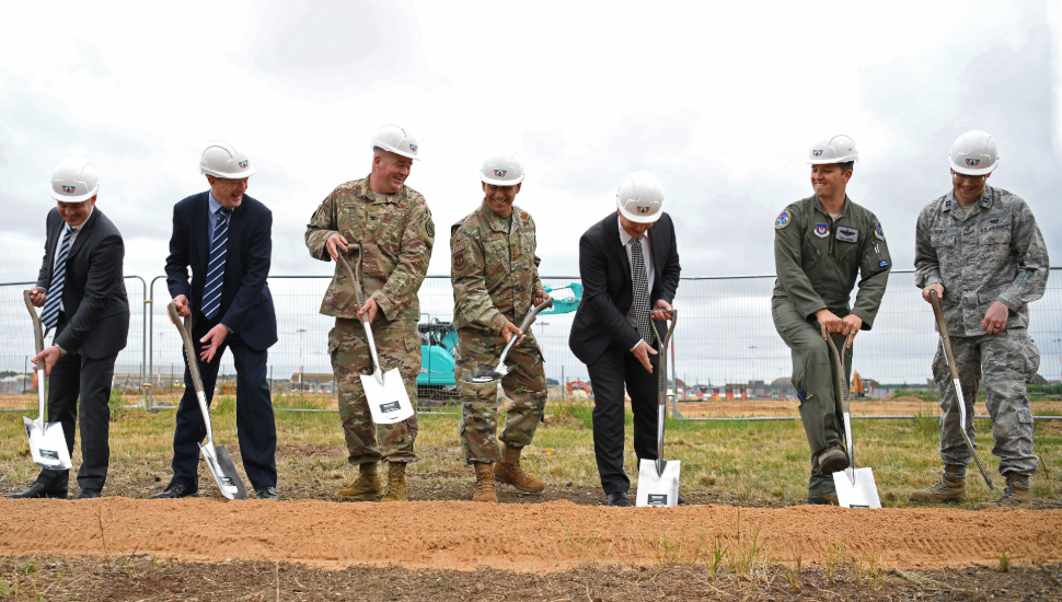 Ground breaking ceremony for F-35A Lightning II in