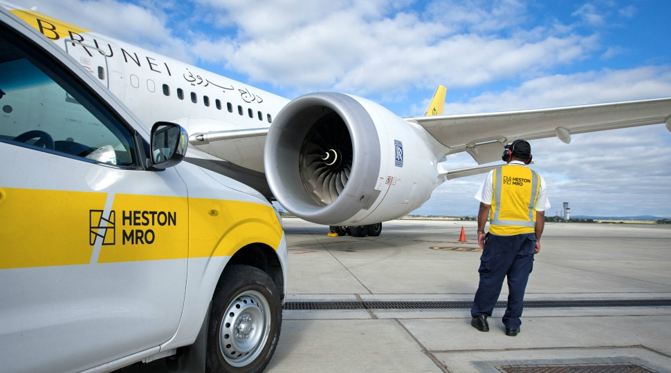 Heston MRO Royal Brunei 787 line maintenance