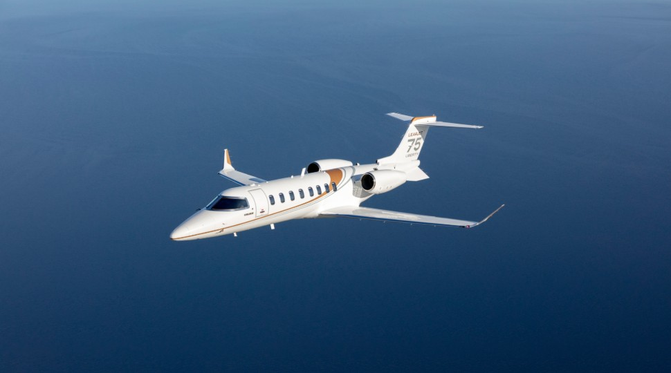 Learjet 75 Liberty flying