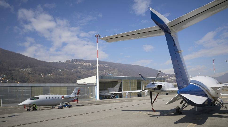 Ruag Lugano business aviation MRO site