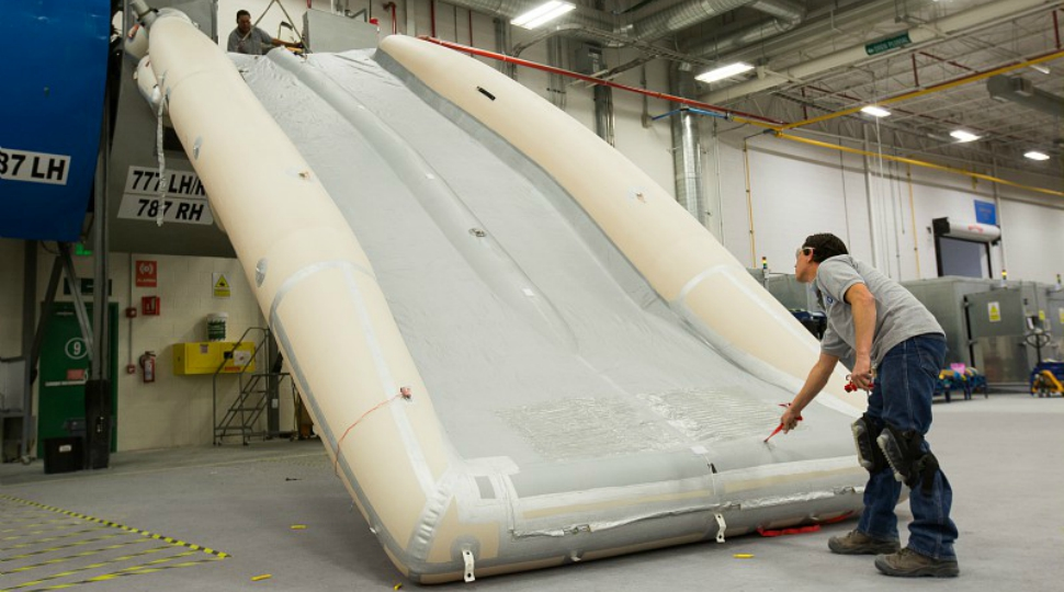 Safran Aerosystems escape slide