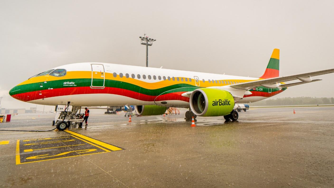 Air Baltic A220 - Lithuania