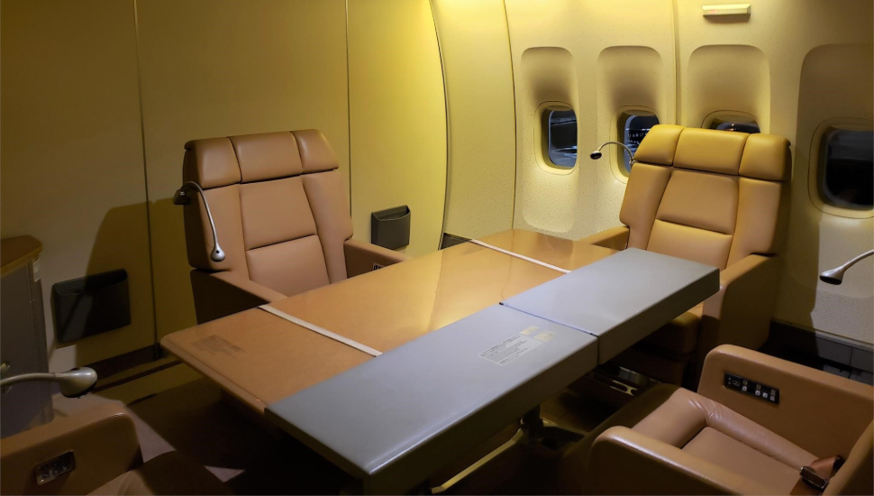 Japanese Air Force One conference table