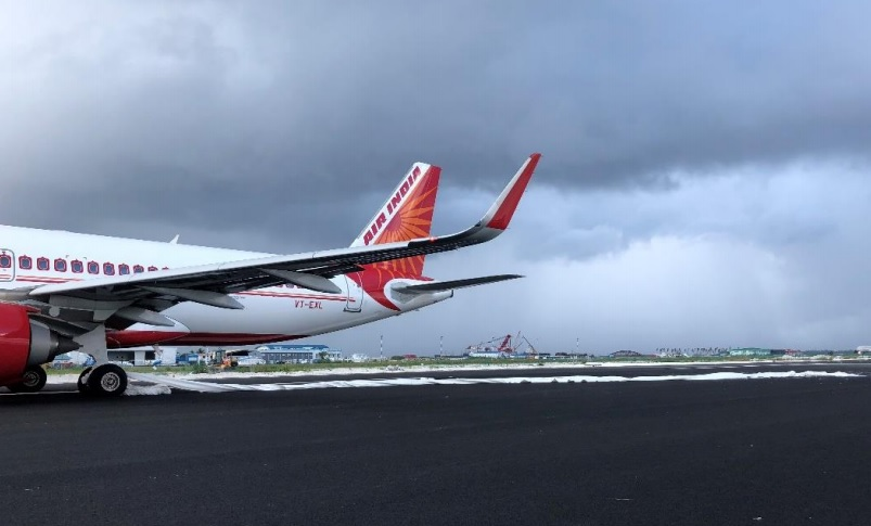 Air India A320neo wrong Male runway
