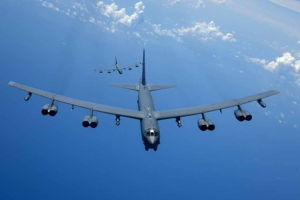 B-52s over Pacific c USAF Airman 1st Class Gerald