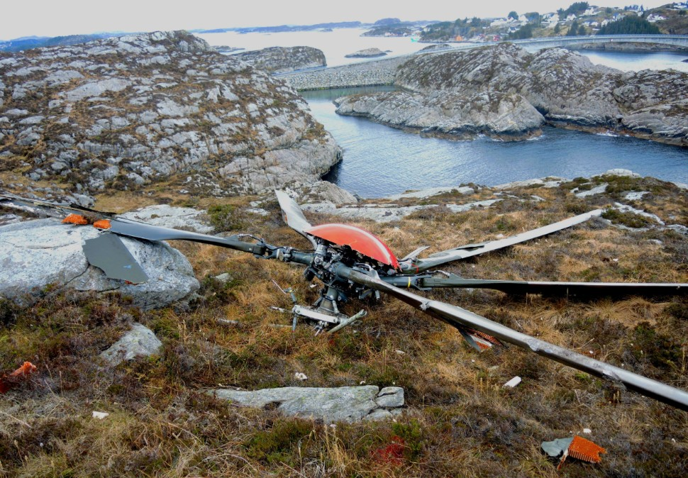 H225 main rotor Turoy crash
