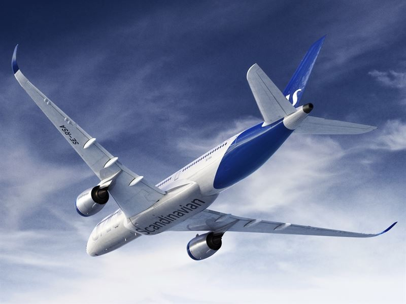 SAS new livery A350