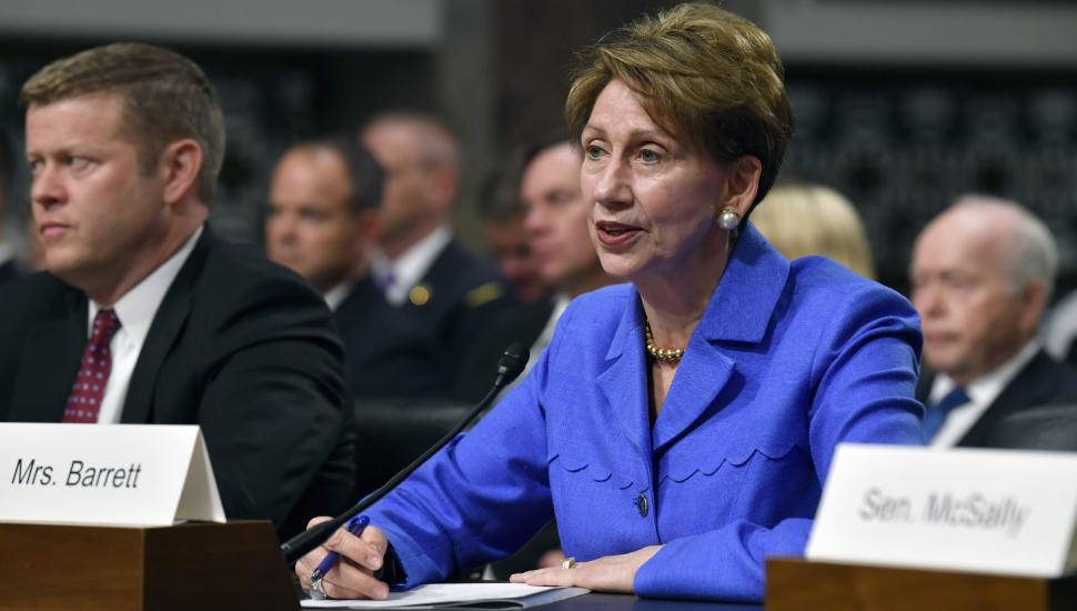 Barbara Barrett at US Senate confirmation hearing