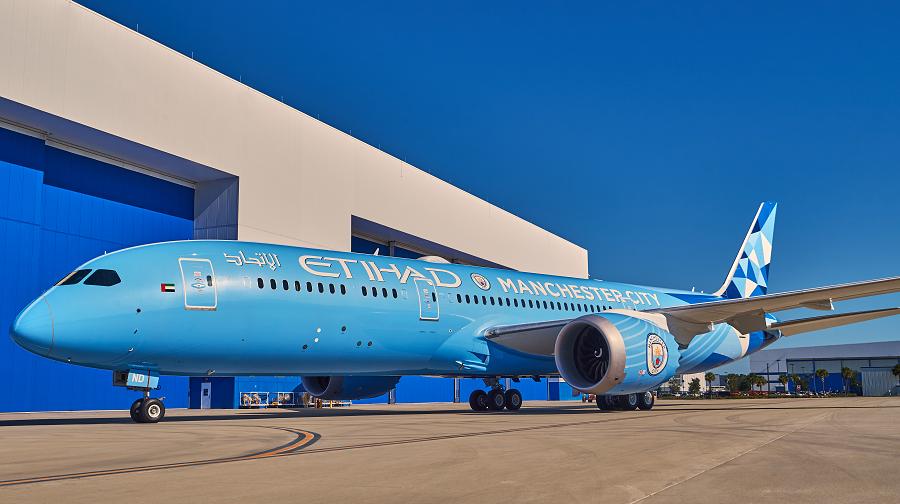 Etihad 787-9 Manchester City livery