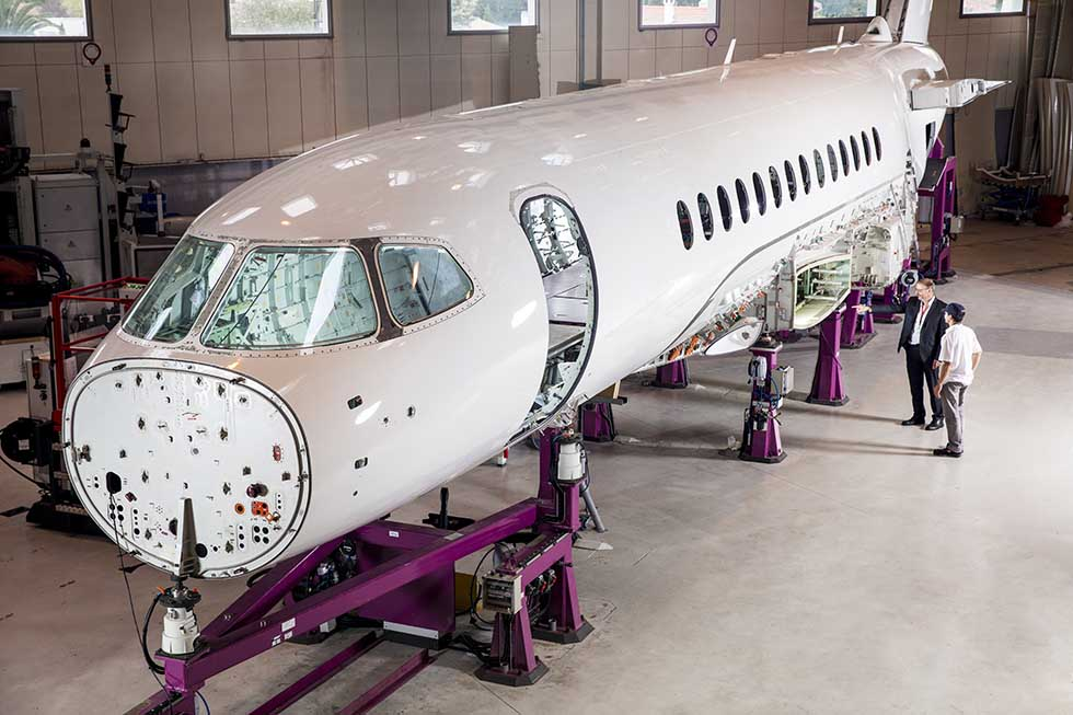 Falcon 6X assembly-Dassault
