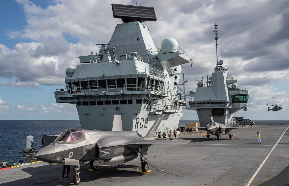 HMS Queen Elizabeth UK F-35Bs - Crown Copyright