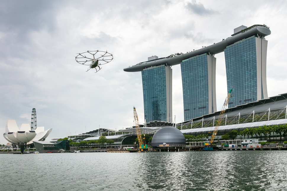 Volocopter Marina Bay Flight