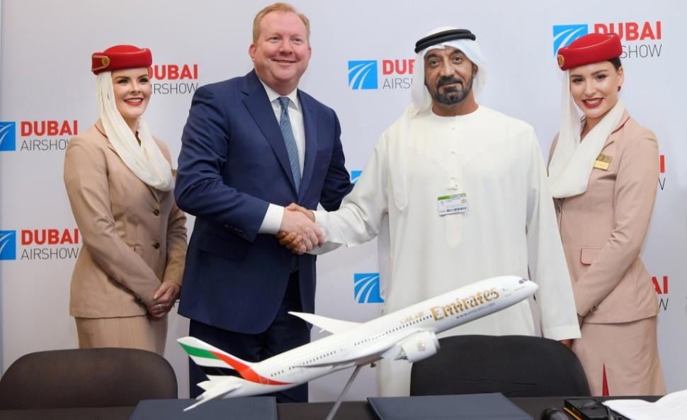 Emirates Boeing signing