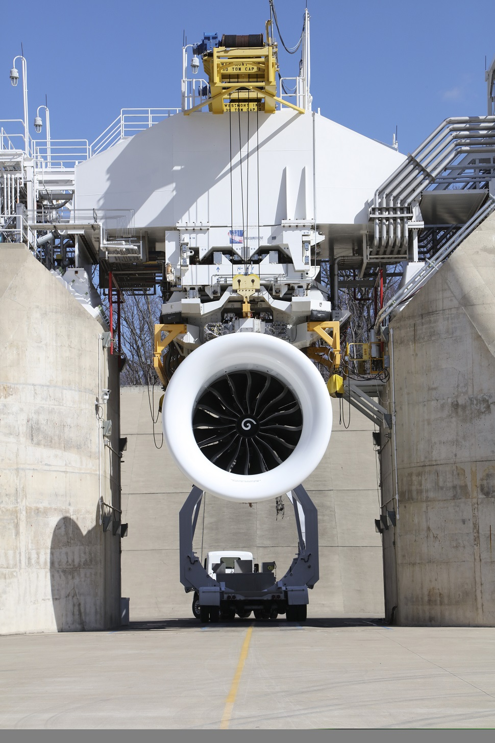 GE9X test cell GE Aviation Peebles, Ohio